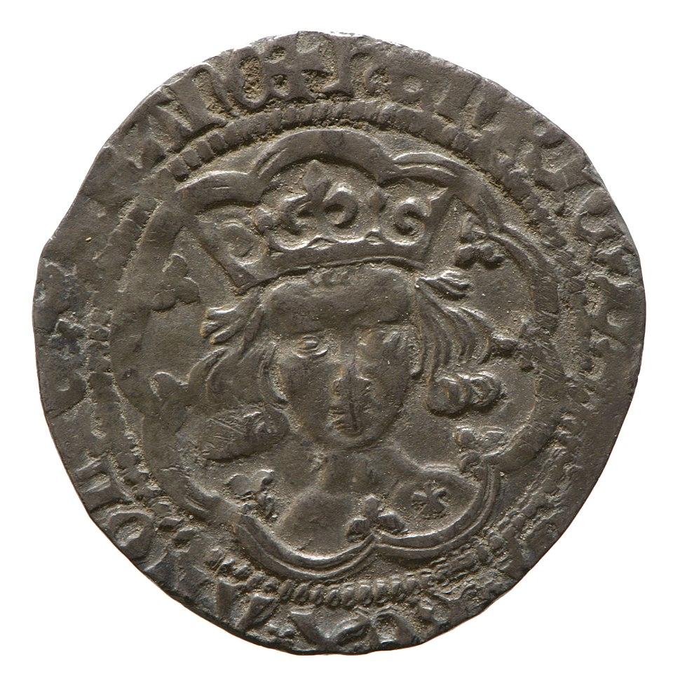 Silver groat of Henry V (YORYM 1980 794) obverse