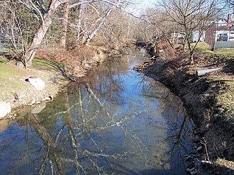 Simpson Creek (West Virginia) - Simpson Creek in Bridgeport in 2006