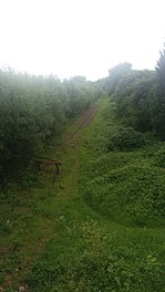 Site of Harts Hill station site, abandoned but will serve as a junction for the metro extension and freight traffic..jpg