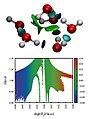 Six water molecules cluster.jpg