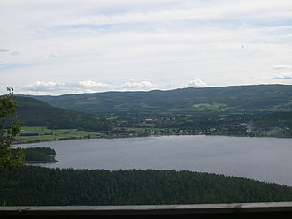 Snåsa - View of Snåsa over Snåsavatnet