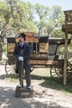 Snake-oil salesman Professor Thaddeus Schmidlap at Enchanted Springs Ranch, Boerne, Texas, USA 28649a.tif
