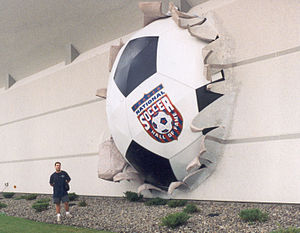 National Soccer Hall of Fame - Giant ball going out of the Former National Soccer Hall of Fame Museum