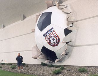 National Soccer Hall of Fame - Giant ball going out of the Former National Soccer Hall of Fame Museum