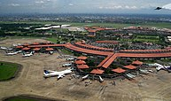 In 2012, Jakarta's Soekarno–Hatta International Airport was the world's 9th busiest airport and the 3rd busiest in Asia