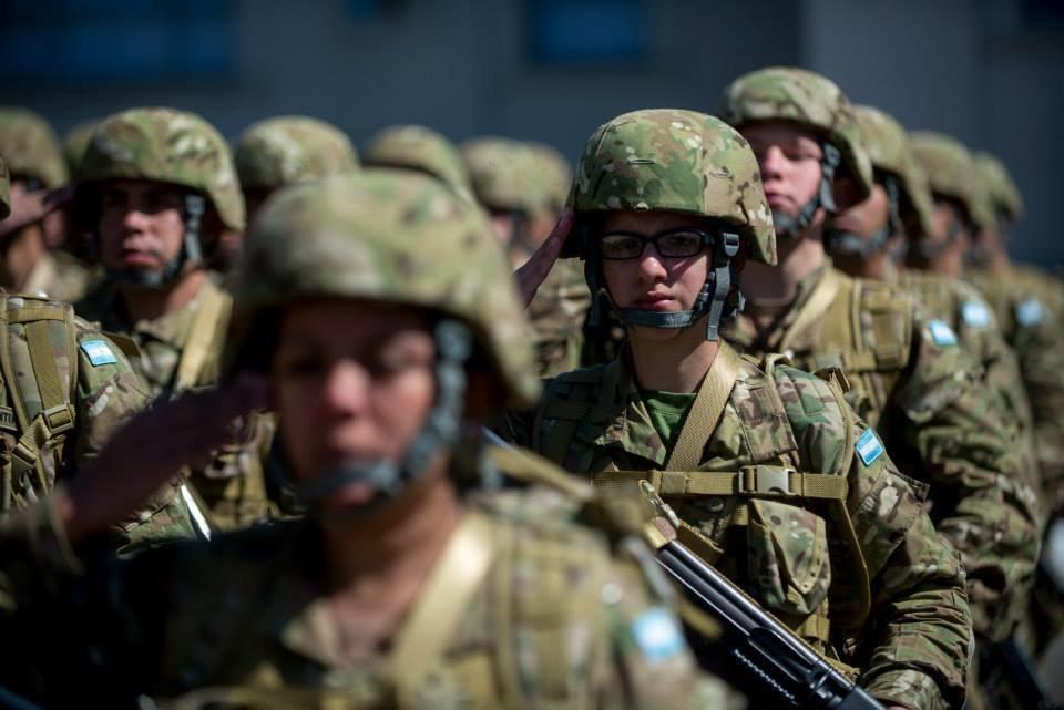 Soldados do exército argentino 2016