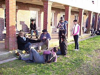 Fort Washington, Maryland - A group of historical re-enactors at Fort Washington in April 2008.