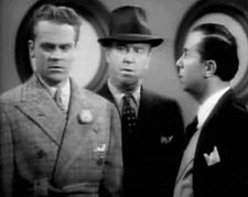 James Cagney, William Frawley ja Marek Windheim elokuvan Tähtisensaatio Hollywoodissa (1937) trailerissa.