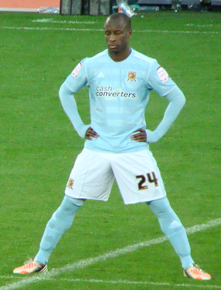 Sone Aluko originally represented England at youth international level, before representing Nigeria at senior international level Sone Aluko 1.png