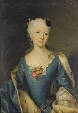 Princess Sophie Antoinette of Brunswick-Wolfenbüttel - Portrait by Francesco Carlo Rusca
