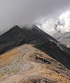 Sorebois Val d'Anniviers (2438 m). Zicht op Corne de Sorebois (2896 m).JPG