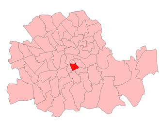 Southwark South East (UK Parliament constituency) - Southwark South East in the Parliamentary County of London, 1918-49