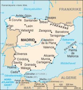 kart over nord spania Spania – Wikipedia kart over nord spania