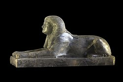 Sphinx dedicated to Princess Ita, daugther of pharao Amenemhat II. Tell el-Mishrife, Former Qatna (Syria), Nin Egal temple.