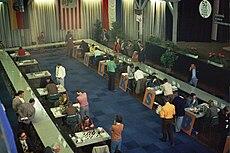 Spielsaal Deutsche Meisterschaft 1974