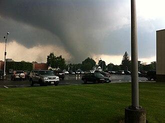2011 New England tornado outbreak - The EF3 tornado that struck Springfield, Massachusetts