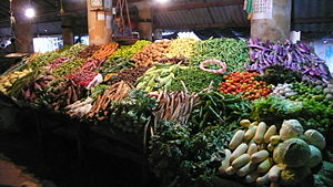 Vegetable Stand in Galle, Sri Lanka
