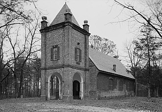 St. Peter's Church (Talleysville, Virginia) - HABS photograph of the church, date unknown