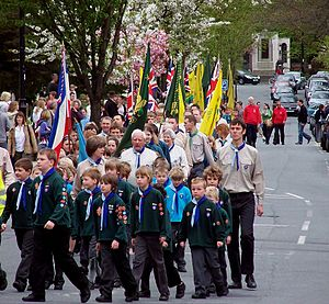 Saint George's Day - A St. George's Day Scouts parade in Somerset, England