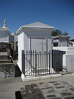 Morphy's crypt in Saint Louis Cemetery #1