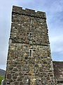 St Clement's Church, Rodel, Harris, tower with Sheela na Gig.jpg