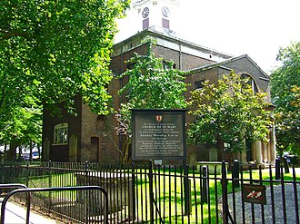 St Mary on Paddington Green Church - View to church from Paddington Green