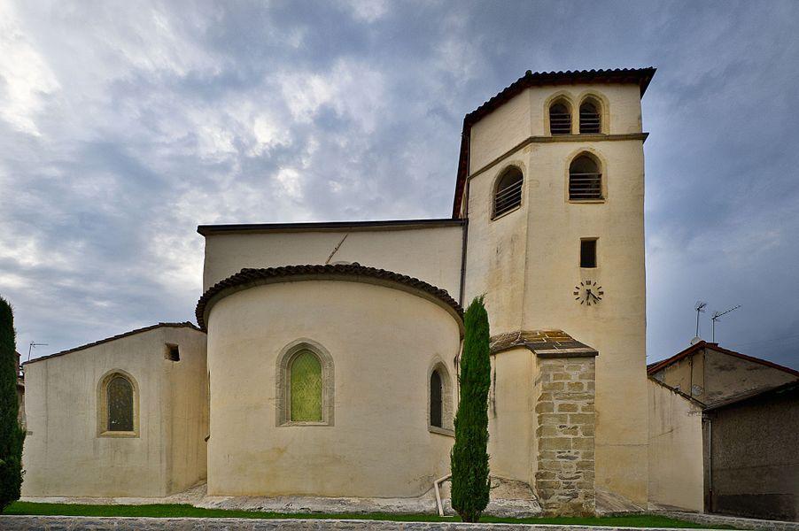 Église Saint-Symphorien de Saint-Symphorien-d'Ozon, Rue Claude-ColombièreRue de l'ÉgliseRue des DauphinsPlace du Marché (Inscrit, 2001)