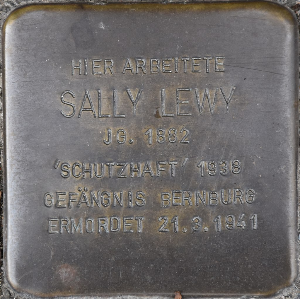 Staßfurt Hamsterstraße 26 Stolperstein Sally Lewy