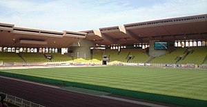 2004 UEFA Super Cup - The Stade Louis II, which has been the venue for the UEFA Super Cup from 1998 to 2012