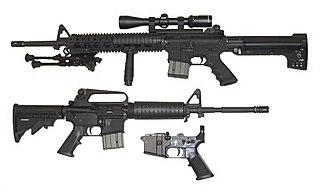 AR-15 style rifle Lightweight semi-automatic based on the Colt AR-15 design