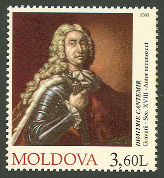Dimitrie Cantemir - Dimitrie Cantemir on a Moldovan stamp