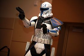 Cosplay du capitaine Rex dans la série The Clone Wars.
