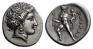 Pheneus human settlement in Greece