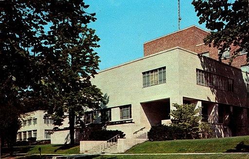 Statler Hall Cornell University 1960s postcard