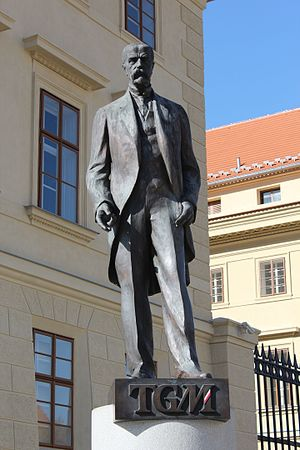 Tomáš Garrigue Masaryk - Statue of Masaryk in Prague.