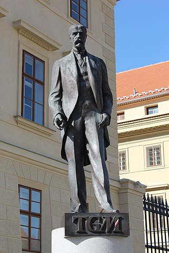 Tomáš Garrigue Masaryk - Statue of Masaryk in Prague.