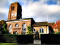Statue of Thomas More in front of Chelsea Old Church, Cheyne Walk, London..jpg
