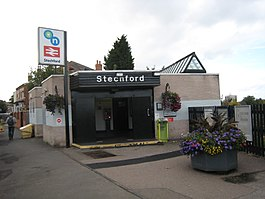 Stechford Railway Station entrance 29 Sep 2017.jpg