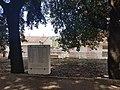 Stele commemorativa fra i lecci nel viale dei caduti.jpg