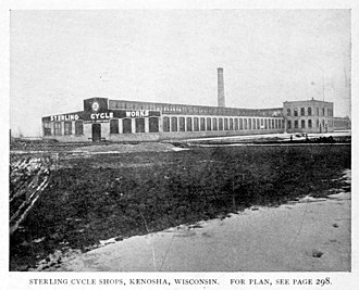 Sterling Bicycle Co. - Image: Sterling Cycle Shops, Kenosha, Wisconsin, 1896