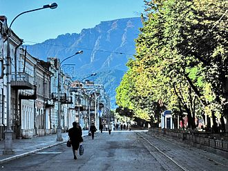 Vladikavkaz - Image: Stolovaya Mt from Vlz September 2009