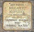 Stolperstein-PariserStr.56-57(Wilm)MargareteKlopstock.jpg