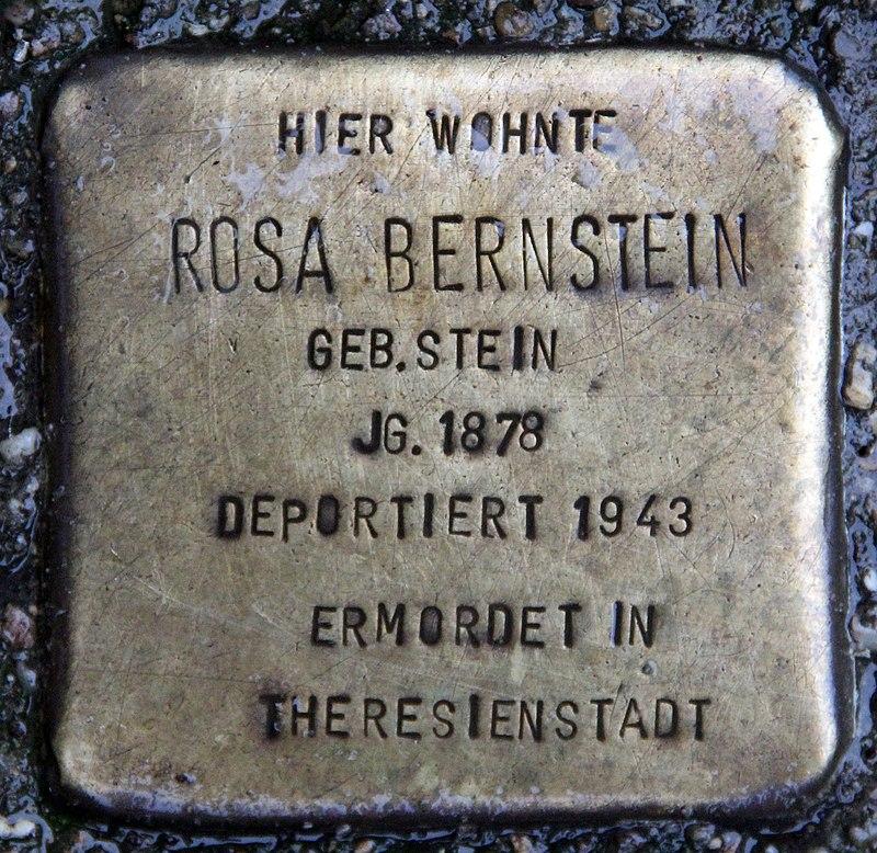 Stolperstein Alt-Köpenick 18 (Köpen) Rosa Bernstein.jpg