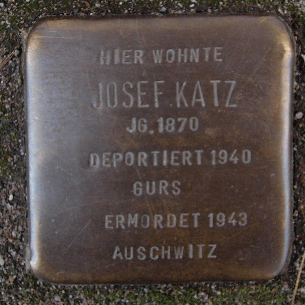Stolperstein Dahn Marktstraße 14 Josef Katz.jpg