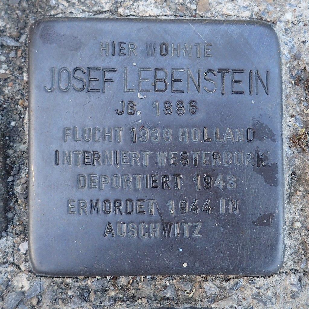 Stolperstein Dorsten Matthäusplatz 2 Josef Lebenstein.jpg