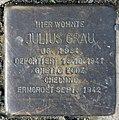 Stolperstein Flotowstr 10 (Hansa) Julius Grau.jpg
