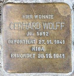 Photo of Gerhard Wolff brass plaque