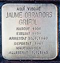 Stolperstein für Jaume Obradors Grífol 1667-Peralta.jpg