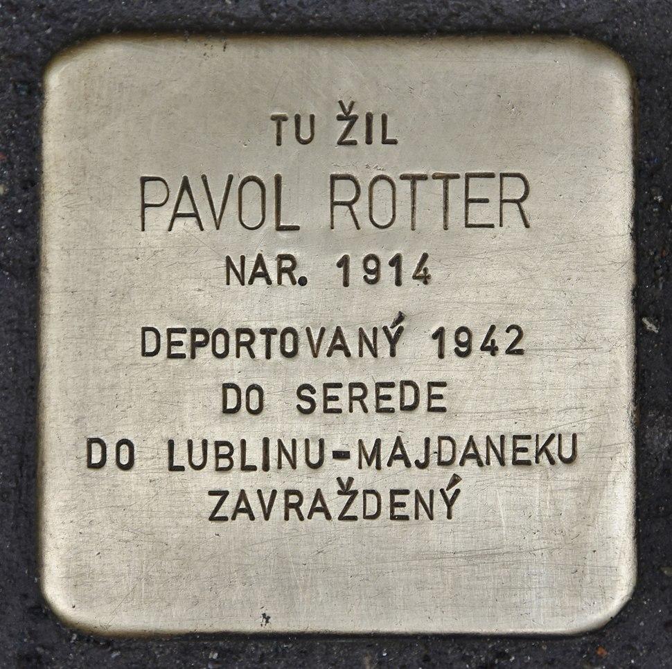 Stolperstein für Pavol Rotter
