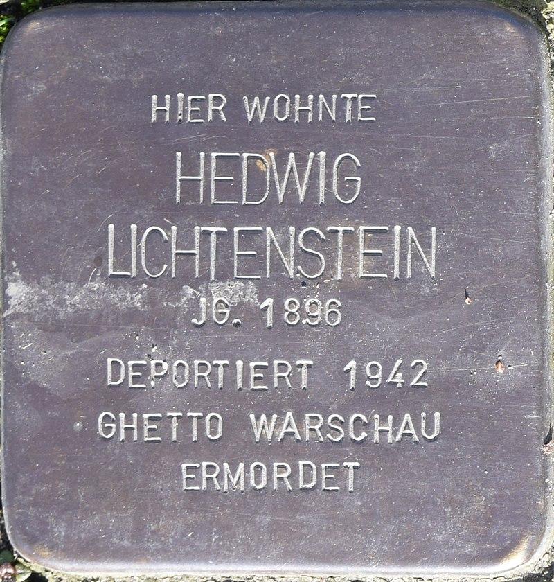 Stolperstein in Bad Pyrmont für Hedwig Lichtenstein
